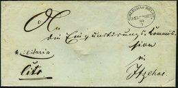 SCHLESWIG-HOLSTEIN Ca. 1850, SCHLESWIG.HOLST: FELDPOST, Ovalstempel Mit Datum, Handschriftlich Militaria Und Cito, Brief - Schleswig-Holstein