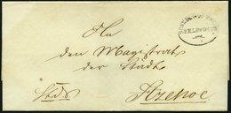 SCHLESWIG-HOLSTEIN Ca. 1851, SCHLESWIG.HOLST: FELDPOST, Ovalstempel Mit Datum Auf K.D.S.-Briefhülle Nach Itzehoe, Rückse - Schleswig-Holstein