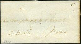 SCHLESWIG-HOLSTEIN 1806, K.D.S.-Briefhülle An Den Magistrat Der Stadt Itzehoe, Rückseitiges Schwarzes Lacksiegel KÖNIGEL - Schleswig-Holstein