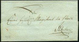 SCHLESWIG-HOLSTEIN 1808, Feldpostbriefhülle An Den Magistrat Der Stadt, Rückseitiges Lacksiegel Itzehoes Comandantschaft - Schleswig-Holstein
