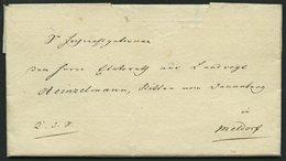 SCHLESWIG-HOLSTEIN 1811, K.D.S. Mit Inhalt Von Det Kongelig. Generalcommissariat Collegium Aus Kiel, Nach Meldorf, Volls - Schleswig-Holstein