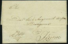 SCHLESWIG-HOLSTEIN 1815, K.D.S. Aus Rendsburg An Einen Dragoner Nach Itzehoe, Rückseitiges Lacksiegel, Pracht - Schleswig-Holstein