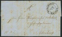 SCHLESWIG-HOLSTEIN 1851, K2 BAHNHOF KIELER Z1 Und M.D.S. Des Oberquratiermeister Der Holsteinischen Truppen (vollständig - Schleswig-Holstein