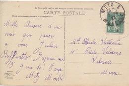 CP De Metz (cathédrale) (T201 Metz 3 Moselle) Sur TP Fr 10c Le 3/6/23 Pour Velaines - Marcophilie (Lettres)