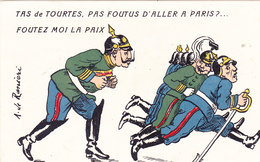 CPA Guerre 14 Caricature Satirique Anti Kaïser Anti Guillaume II Illustrateur A. De RANIERI (2 Scans) - Humoristiques