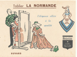BU 1523 -/  BUVARD  TABLIER  LA NORMANDE - Textile & Clothing
