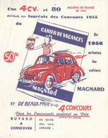 BU 1524 -/  BUVARD   CAHIER DE VACANCES  MAGNARD - Papeterie