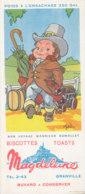 BU 1528 -/  BUVARD  BISCOTTES MAGDELEINE  GRANVILLE   BON VOYAGE MONSIEUR DUMOLLET - Biscottes