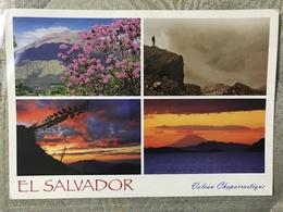 Circulated Postcard El Salvador 2012, Landscape , ( Lions Club , Church Stamps ) - Salvador