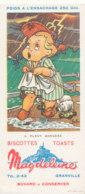 BU 1531 -/  BUVARD  BISCOTTES MAGDELEINE  GRANVILLE  IL PLEUT BERGERE - Biscottes