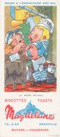 BU 1532 -/  BUVARD  BISCOTTES MAGDELEINE  GRANVILLE   LA MERE MICHEL - Biscottes