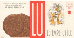 BU 1536 -/  BUVARD   GATEAUX   LU LEFEVRE  UTILE  LE PETIT ECOLIER - Sucreries & Gâteaux