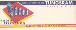 BU 1540 -/  BUVARD   TUBES ELECTRONIQUE  TUNGSRAM  RADIO TELEVISION - Electricité & Gaz