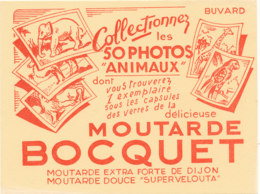 BU 1542 -/  BUVARD    MOUTARDE  BOCQUET - Moutardes