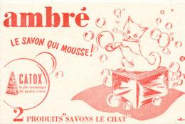 BU 1548 -/  BUVARD   SAVON AMBRE    LE CHAT - Parfums & Beauté