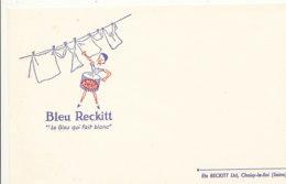 BU 1555-/  BUVARD    BLEU RECKITT - Produits Ménagers