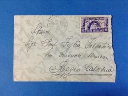 REGNO D'ITALIA 1936 FIERA DI MILANO 50 CENT ISOLATO SU BUSTA - Storia Postale