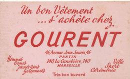 BU 1558 -/  BUVARD   VETEMENT  HOMMES DAMES ENFANTS   GOURENT   MARSEILLE - Textile & Clothing