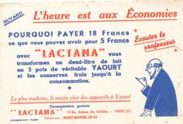 BU 1561 -/  BUVARD    LACTANA   APPAREILS A YAOURT - Produits Ménagers