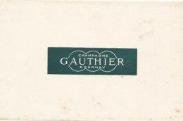 BU 1564 -/  BUVARD   CHAMPAGNE  GAUTHIER EPERNAY - Liqueur & Bière