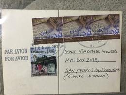 Circulated Postcard El Salvador 2012,Building  , ( Judaica , Jew , Juifs , 60 Anniversary Israel Stamps ) - Salvador