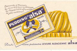 BU 1568 -/  BUVARD  CREME    PUDDING ALSA - Sucreries & Gâteaux
