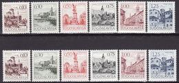 Yugoslavia 1971 Definitive - Tourism, MNH (**) Michel 1427-1430, 1444, 1465 X,y - Unused Stamps