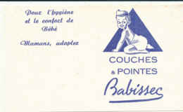 BU 1579 -/  BUVARD   COUCHES ET POINTES  BABISSEC - Parfums & Beauté