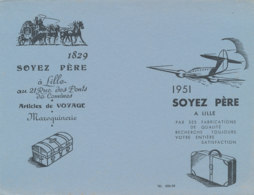 BU 1581 -/  BUVARD    MAROQUINERIE   ARTICLE DE VOYAGE    SOYER PERE  LILLE - Sonstige