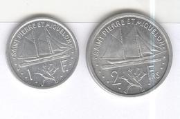 Lot 1 Et 2 Francs Saint Pierre Et Miquelon 1948 SUP - Monnaies