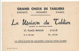 BU 1588 -/  BUVARD    LA MAISON DU TABLIER   LILLE - Textile & Clothing