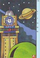 Télécarte Japon * 330-18552 * ESPACE (979)  GLOBE * SATELLITE * TERRESTRE * MAPPEMONDE Telefonkarte Phonecard JAPAN - Espace