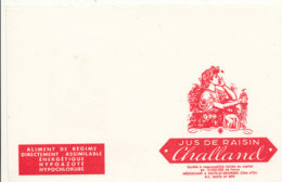 BU 1590 -/  BUVARD     ALIMENT DE REGIME    JUS DE RAISIN CHALLAND - Limonades