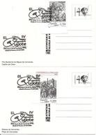 2005-ED. 4161 A Y C SOBRE TARJETA POSTAL. IV CENT. DE '' EL QUIJOTE '' MAT. 1er. DIA DE ALCALÁ DE HENARES - FDC