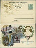 GANZSACHEN PP 15D5/03 BRIEF, Privatpost: 5 Pf. Germania 500jähr. Geburtsjubiläum Johannes Gutenbergs, Rückseitiger Text: - Deutschland