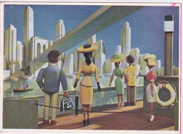 THEME AVIATION - COMPAGNIE AERIENNE KLM  CARTE POSTALE PUBLICITAIRE D'EPOQUE - Publicités