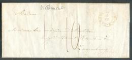 LAC Expédiée De VILLEMONT Via HABAY-la-NEUVE (càd Type 18) Le 15-VII (1846) Vers Luxembourg; Port 1/10. - 13521 - 1830-1849 (Belgique Indépendante)