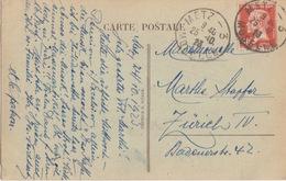 CP De Metz (Maître-Hôtel) (T201 Metz --3 Moselle) Sur TP Fr 30c=étr Le 25/10/23 Pour Zürich - Marcophilie (Lettres)