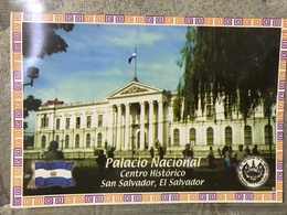 Circulated Postcard El Salvador 2012 Building  , ( Firefighter Stamps ) - Salvador