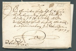 LAC Du Comte De Sully à Mr. Köler à Hipelstorff Mai 1628 (régisseur Des Forges De Bergh Au Luxembourg) Vers Walferdange - Luxembourg