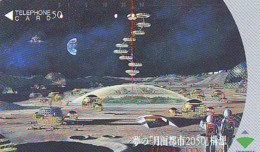 Télécarte Japon * 110-104526 * ESPACE (990)  GLOBE * SATELLITE * TERRESTRE * MAPPEMONDE Telefonkarte Phonecard JAPAN - Espace
