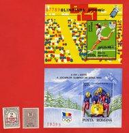 Lot De 2 Timbres 2 Blocs POSTA ROMANA ROUMANIE Neufs Xx - Collections