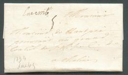 LAC (griffe Manuscrite) Luxemb. Du 20 Mai 1734 Vers Malines (Belgique); Port '5'.  Belle Fraîcheur - 13534 - Luxembourg