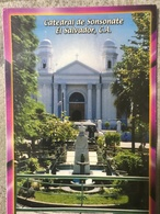 Circulated Postcard El Salvador 2012 Church  , ( Firefighter Stamps ) - Salvador