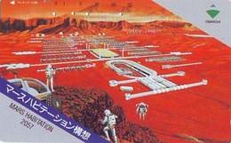 Télécarte Japon * * ESPACE (992)  GLOBE * SATELLITE * TERRESTRE * MAPPEMONDE Telefonkarte Phonecard JAPAN - Espace
