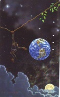 Télécarte Japon * 290-18132 * ESPACE (995)  GLOBE * SATELLITE * TERRESTRE * MAPPEMONDE Telefonkarte Phonecard JAPAN - Espace