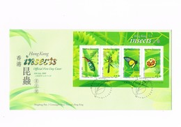 FDC - Hong Kong - Insects - 16th July 2000 - 1997-... Région Administrative Chinoise