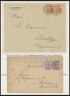 MEMELGEBIET 1881-1923, Interessante Partie Von 20 Verschiedenen Belegen, Einige Bessere, Prachtlot - Memelgebiet
