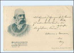 Y10303/ Kaiser Franz Josef 1898 AK  - Königshäuser