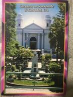 Circulated Postcard El Salvador 2012 Church  , ( Archeology Stamps ) - Salvador